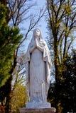 Statue of Virgin Mary. Barbana island - Grado royalty free stock image