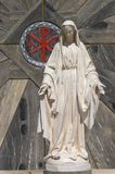 Statue of Virgin Mary. Marble statue of Virgin Mary in Nazareth, Israel Royalty Free Stock Photography