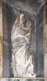 Statue of Virgin Mary above the sarcophagus Raphael, Lorenzo Cre Stock Image