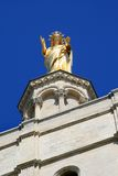 Statue of Virgin Mary upon Avignon Cathedral Royalty Free Stock Photo