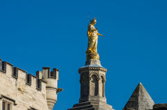 Statue of Virgin Mary. Avignon, France Royalty Free Stock Photo