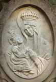 Statue of the Virgin Mary with the baby Jesus Christ Royalty Free Stock Photo