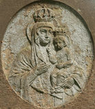 Statue of the Virgin Mary with the baby Jesus Christ in her arms Royalty Free Stock Photos