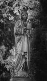 Statue of the Virgin Mary with the baby Jesus Christ Stock Photo