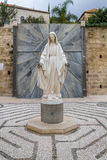 Statue of Virgin Mary, Church of the Annunciation in Nazareth Stock Photos