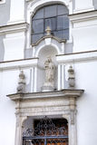 Statue of Virgin Mary. Decoration element of house in old city. Royalty Free Stock Images