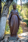 Statue of the Virgin Mary in Ephesus, in front of her house Royalty Free Stock Images