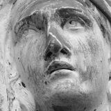 Statue Of Virgin Mary (fragment of antique statue) Stock Photos