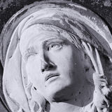 Statue Of Virgin Mary (fragment) Royalty Free Stock Photo