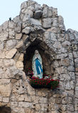 Statue of Virgin Mary in the grotto of the international shrine Royalty Free Stock Photos