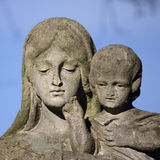 Statue Of Virgin Mary and Jesus Christ Royalty Free Stock Images