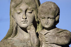 Statue Of Virgin Mary and Jesus Christ Royalty Free Stock Photo