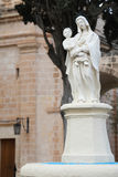 Statue of Virgin Mary and Jesus Christ Royalty Free Stock Photos