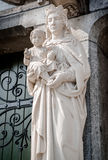 Statue of Virgin Mary and Jesus Christ Stock Photography