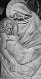 Statue Of Virgin Mary and Jesus Christ (wooden statue) Royalty Free Stock Photo