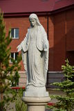 Statue of Virgin Mary near Catholic church in Astana Stock Images