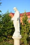 Statue of Virgin Mary near Catholic church in Astana Royalty Free Stock Photo
