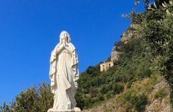 Statue of the Virgin Mary praying royalty free stock photo