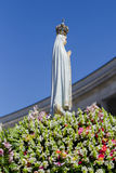 The Statue of the Virgin Mary at the Sanctuary of Fatima during the celebrations of the apparition of the Virgin Mary in Fatima. Portugal royalty free stock photography