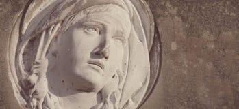 Statue Of Virgin Mary (styled retro) Stock Photo