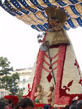 Statue of the Virgin in the Street during the annual Celebration of Las Fallas, Valencia, Spain. File Photo:nnThe Falles (Valencian: [ˈfaʎes] ( listen), sing Stock Image