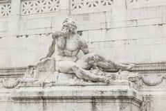 Statue Vittoriano Rome. Detail of the Altare della Patria. Rome Stock Photography