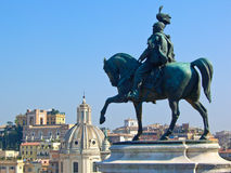 Statue of Vittorio Emanuele II in Rome, Italy Royalty Free Stock Photo