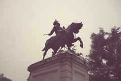 Statue of Vittorio Emanuele II, Verona in Italy Stock Image