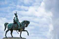 Statue of Vittorio Emanuele King of Italy Stock Photography