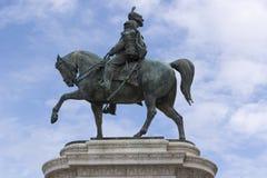 Statue Vittorio Emmanuele Rome Lizenzfreies Stockfoto