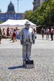 Statue vivante attendant l'astuce images libres de droits