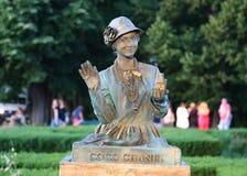 Statue vivante - Coco Chanel photographie stock libre de droits