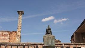 Statue of Vlad Tepes stock footage