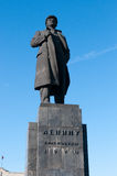 Statue of Vladimir Lenin in Krasnoyarsk Royalty Free Stock Photo