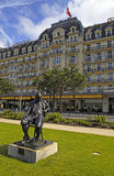 Statue of Vladimir Nabokov, Montreux, Switzerland Stock Photo