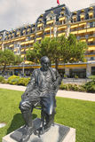 Statue of Vladimir Nabokov, Montreux, Switzerland Royalty Free Stock Photos