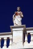 Statue vom Gebäude - Syros Lizenzfreies Stockfoto