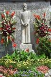Statue von ¼ e Heiliges Nicolas von Der Flà in Engelberg Lizenzfreie Stockfotos