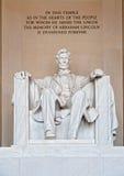 Statue von Abraham Lincoln Lizenzfreies Stockfoto