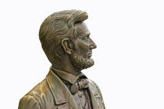 Statue von Abraham Lincoln trennte Stockbild