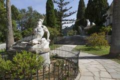 Statue von Achill innerhalb des Achilleions-Gebäudes Stockbild