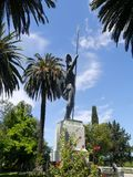 Statue von Achilles Triumphant Stockfoto