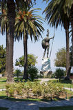 Statue von Achilleus in Achilleions-Palast Stockbild