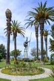 Statue von Achilleus in Achilleions-Palast in Gastouri, Korfu-Insel in Griechenland Stockfotografie