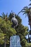 Statue von Achilleus in den Gärten des Achillieon-Palastes in Korfu Griechenland Stockfotos