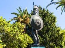 Statue von Achilleus im Achillieon-Palast auf der Insel von Korfu Griechenland errichtet von der Kaiserin Elizabeth von Österreic Stockfotos
