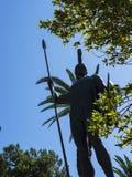 Statue von Achilleus im Achillieon-Palast auf der Insel von Korfu Griechenland errichtet von der Kaiserin Elizabeth von Österreic Stockbilder