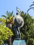 Statue von Achilleus im Achillieon-Palast auf der Insel von Korfu Griechenland errichtet von der Kaiserin Elizabeth von Österreic Lizenzfreie Stockbilder