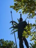Statue von Achilleus im Achillieon-Palast auf der Insel von Korfu Griechenland errichtet von der Kaiserin Elizabeth von Österreic Lizenzfreie Stockfotografie
