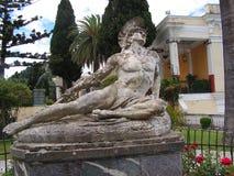 Statue von Achilleus in Korfu, Griechenland Stockbilder